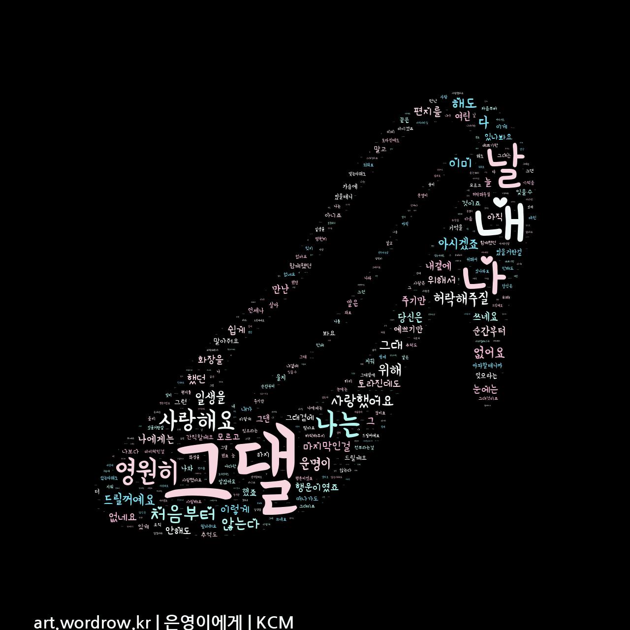 워드 클라우드: 은영이에게 [KCM]-14